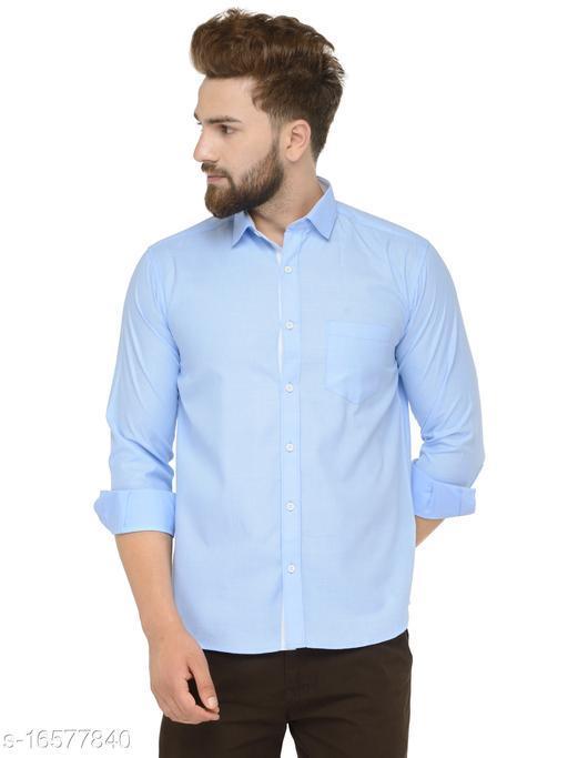 Jainish Men's Solid Casual Shirt's