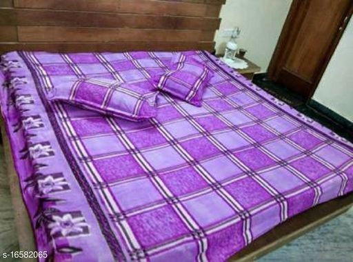 Comfytouch Warm Double Bedsheet With Two Pillow Covers