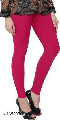 SAI KRIPA TRADERS Ultra Soft Cotton Churidar Solid Regular and Plus 45 Colours Leggings for Womens and Girls