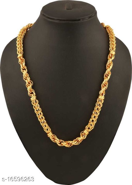 Men Gold-plated Plated Metal Chain