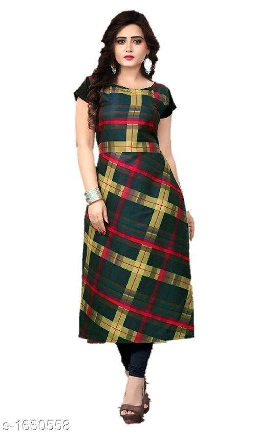 Kurtis & Kurtas Stylish Heavy Crepe Women's Kurti  *Fabric* Heavy Crepe  *Sleeves* Sleeves Are Included  *Size* M - 38 in, L - 40 in, XL - 42 in, XXL - 44 in  *Length* Up To 47 in  *Type* Stitched  *Description* It Has 1 Piece Of Women's Kurti  *Work* Button Work  *Sizes Available* S, M, L, XL, XXL *   Catalog Rating: ★3.6 (4049)  Catalog Name: Ariya Stylish Heavy Crepe Women's Kurtis Vol 1 CatalogID_216431 C74-SC1001 Code: 332-1660558-