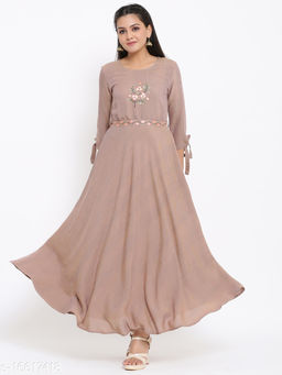 Women Chiffon Anarkali Gown