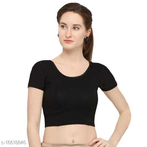 Life win stretchable blouse 28 to 46 size cotton lycra for women