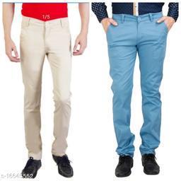 Combo Men's Western Wear Fashionable Casual Trousers