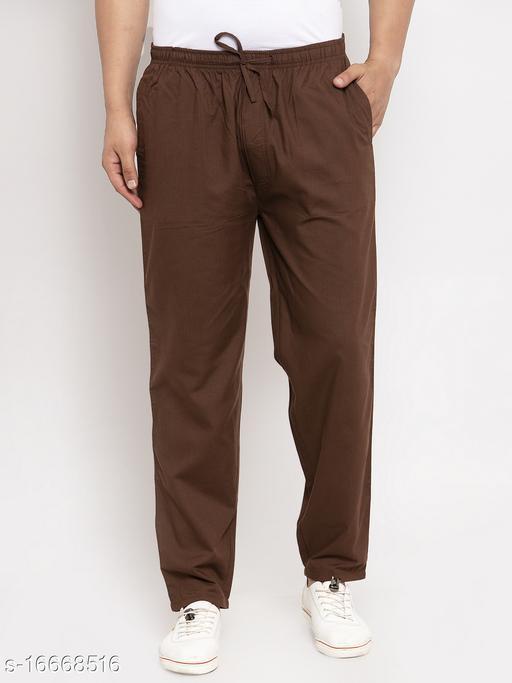 Jainish Men's Solid Cotton Formal Track Pants
