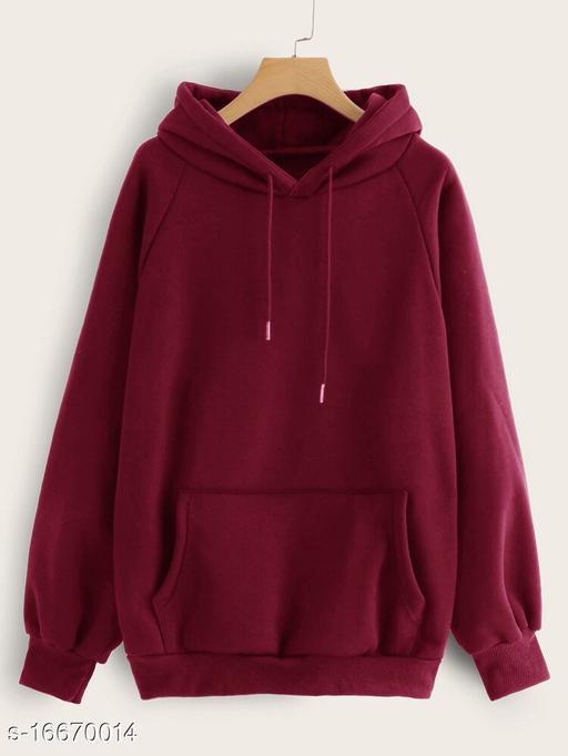 Unisex Cotton Plain Casual Hoodies for Women