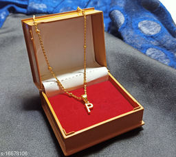 Latter P chain name necklace chain for girls