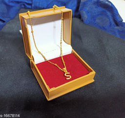 Latter S chain name necklace chain for girls
