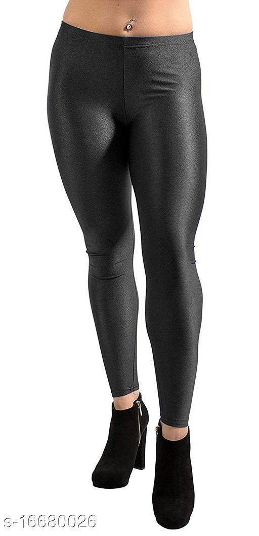 Plus Size Beautiful Black Shiny Leggings for Women's