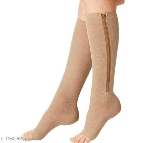 adorable and attractive zip socks with built-in & adjustable zipper make it relieving from pain with 1 cool&attractive new year event free gift(mobile stand)