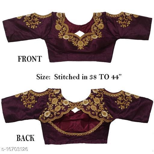Women's Phantom Silk Wine  Stitch Blouse