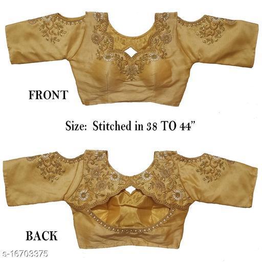 Women's Phantom Silk Chiku  Stitch Blouse