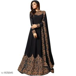 Pretty Gerogette Embroidered Suits & Dress Material