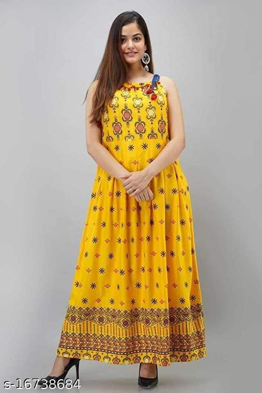 TRUE WORLD Fancy Partywear Women Gowns Rayon