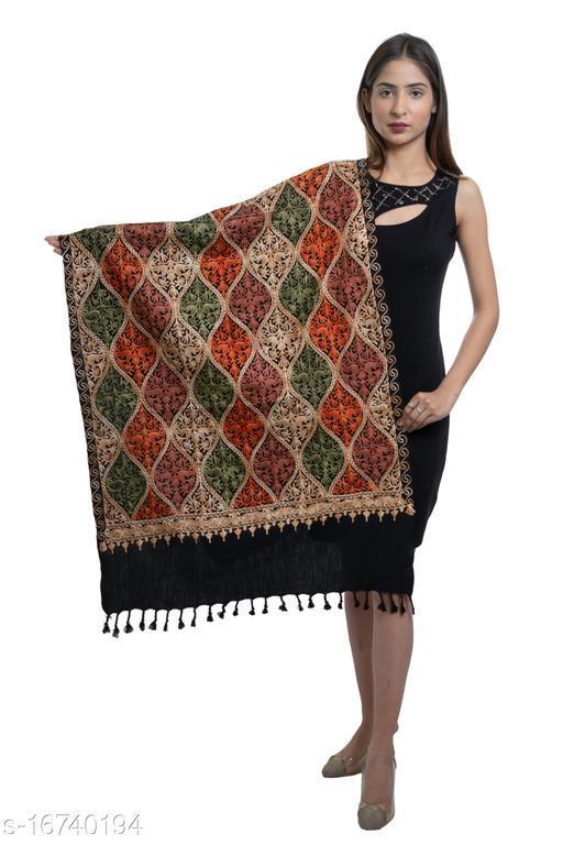 Women Kashmiri Embroidery, Designer Wool blend Stole