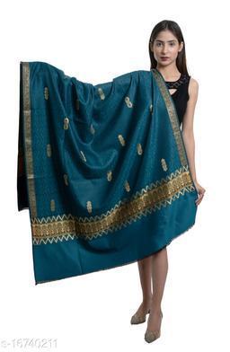 Women's Wool Blend Kashmiri Buti Shawl