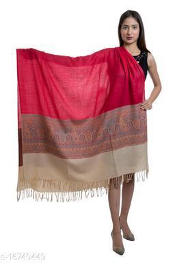 Women Designer Woven Fine Wool Shawl