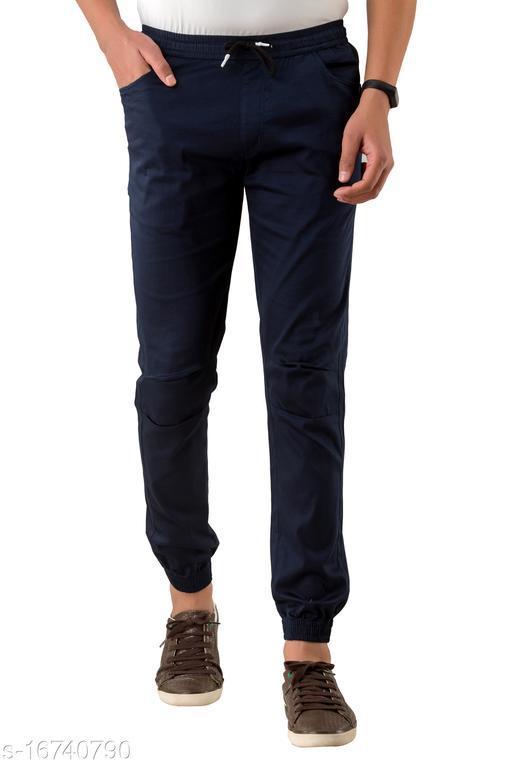 VIRANCHI THE CODE Cotton Joggers For Mens & Boys (Blue)