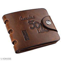 Trendy Men's Multicolor Leather Wallet