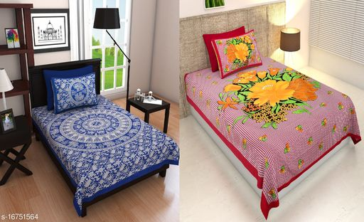 Blue Hathi Single Kam With Red Mona Check