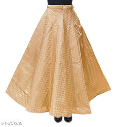 ENBLOC Women's Now Umbrella Cut Skirt for Party/Festival Function