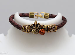 New Elegant Bracelet | Mahadev Leather Bracelet | Unique Mahakal Kada | Latest Shiv Trishul Kada Bracelet