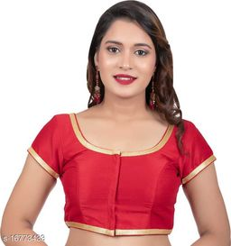 NEW PLAIN SIMPLE STYLE READY MADE ETHNIC BLOUSE