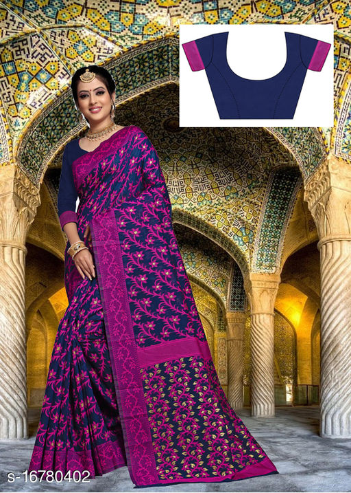 Women's bengali saree with Un-stitch Blouse