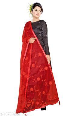 New Designer Stylish Jaipuri Net Flower Design Party/festive/Daily wear Dupatta for Womens  and Girls