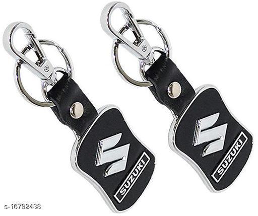 Inispire2Fashion Suzuki Logo Key Chain Set of 2