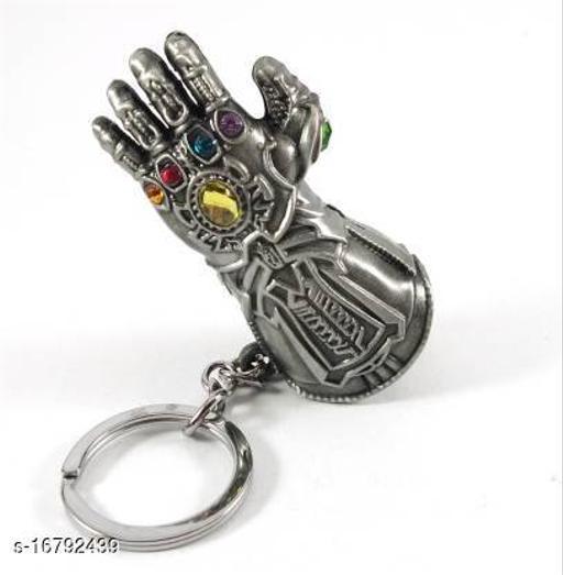 Inispire2Fashion Thanos Logo Key Chain Silver
