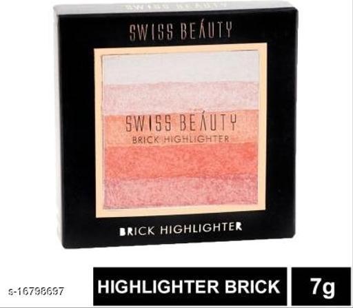 Swiss Beauty Blusher Highlighter Brick SB-805 Shade 02 Highlighter (Shade 02)