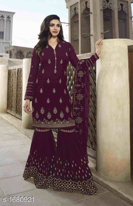 Trendy Georgette Embroidered Suits & Dress Material