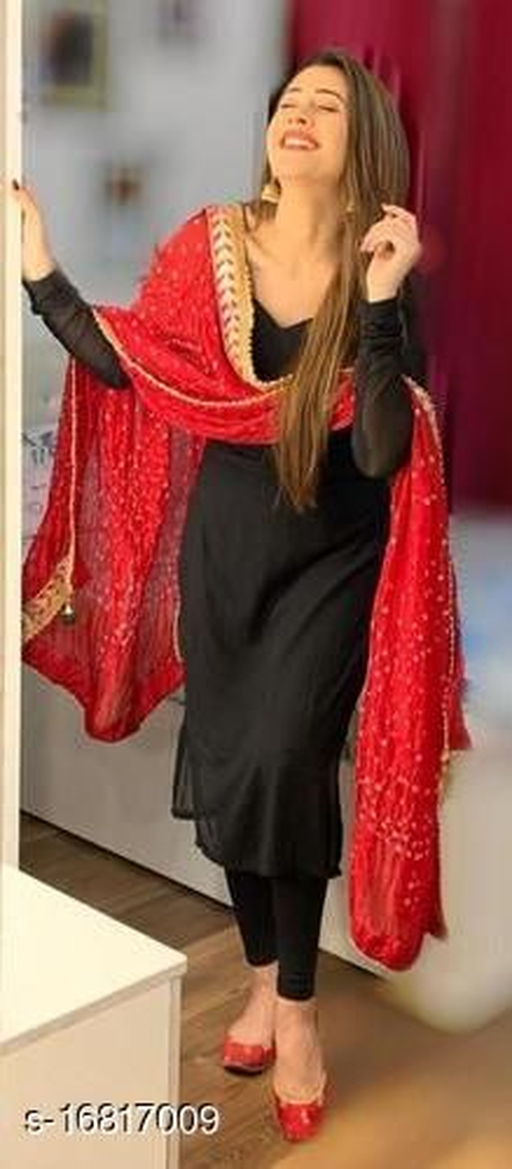 Art Silk Jaipuri Bhandhni Red Dupatta 2.25 Meter