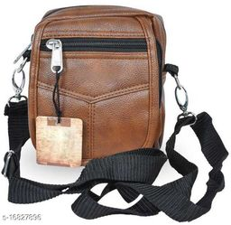 Classy Men's Brown Leather Slingbag