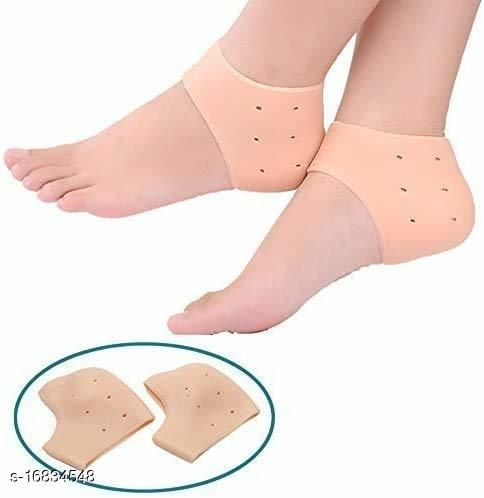 Silicone Gel Heel And Foot Protector Moisturizing Socks for Foot Care,Pain Relief And Heel Cracks(colour may vary)