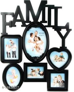 Family Wall Clock Wooden Photo Frame(Suitable 5*7 and 6 Photos)