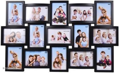 Wall Clock Wooden Photo Frame(Suitable 4*6 and 15 photos)