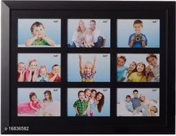 Wall Clock Wooden Photo Frame(Suitable 4*6 and 9 photos)