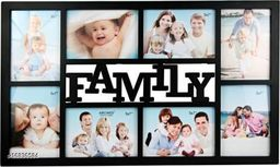 Family Wall Clock Wooden Photo Frame(Suitable 4*6 and 8 Photos)