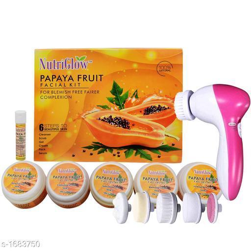 NutriGlow Premium Choice Facial Kit With Face Massager