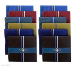 S4S Men's 100% Cotton Essential Handkerchiefs (Dark Color Assorted_42CM X 42CM_Pack of 12)