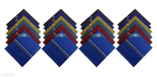 S4S Men's 100% Cotton Dark Colored Handkerchiefs/Hankies (Dark Color Assorted_42CM X 42CM_Pack of 24)