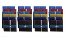 S4S Men's 100% Cotton Essential Handkerchiefs (Dark Color Assorted_42CM X 42CM_Pack of 24)