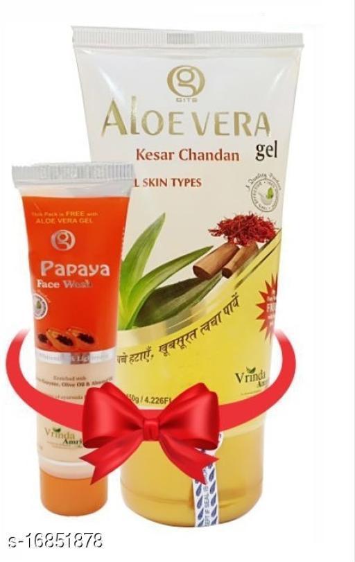Vrinda Aloevera Kesar Chandan Face Wash -Skin Clearing Face Wash –Flawless Skin 150gm