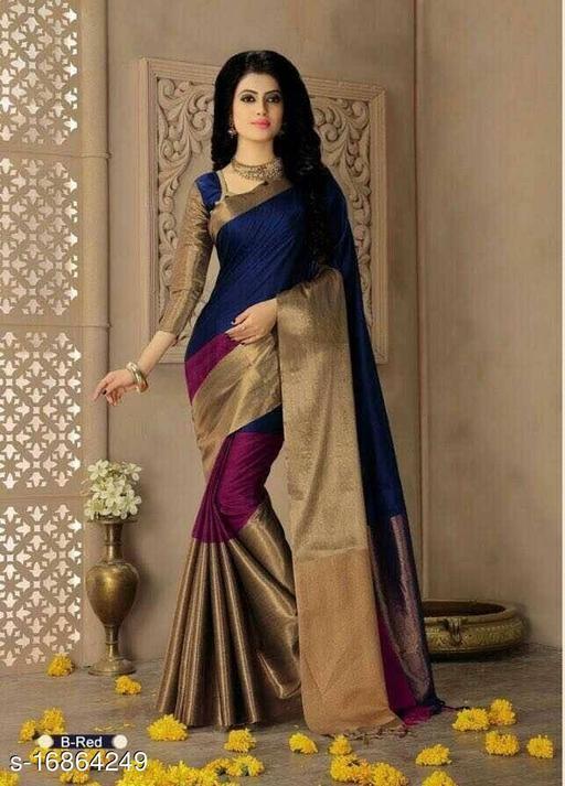 Latest new desinger silk saree for women