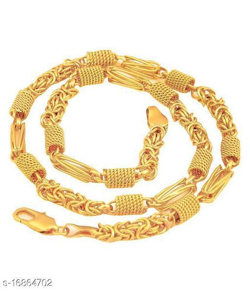 VMKOR Trendy Most Popular Beautiful Design Golden light Gold Plated Alloy Chain