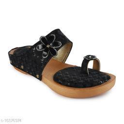 Fiia Women Fashion Stylish Sandals Footwear For Wedding & Party Black - 05