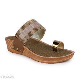 Fiia Women Fashion Stylish Sandals Footwear For Wedding & Party Pink/Gold