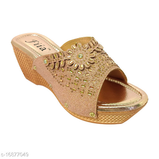 Beautiful Women's Syntethic Leather Pink Wedges